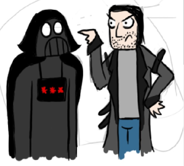 R and Darth Alex in The Fury Wars